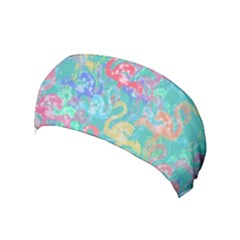 Flamingo pattern Yoga Headband