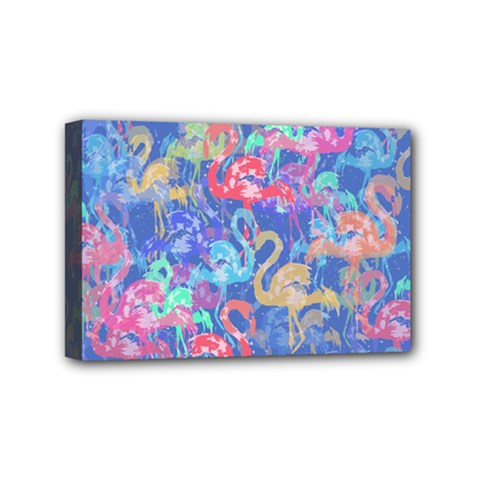 Flamingo pattern Mini Canvas 6  x 4