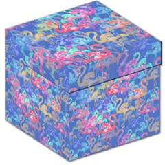 Flamingo pattern Storage Stool 12