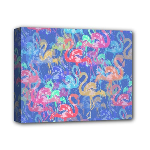 Flamingo pattern Deluxe Canvas 14  x 11