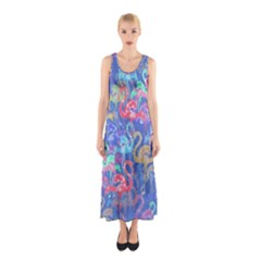 Flamingo pattern Sleeveless Maxi Dress