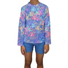 Flamingo pattern Kids  Long Sleeve Swimwear