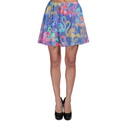 Flamingo pattern Skater Skirt