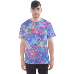 Flamingo pattern Men s Sport Mesh Tee