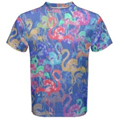 Flamingo pattern Men s Cotton Tee