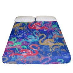 Flamingo pattern Fitted Sheet (Queen Size)