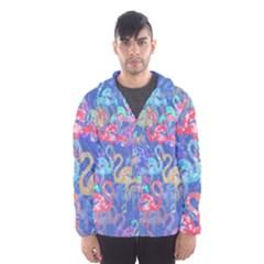 Flamingo pattern Hooded Wind Breaker (Men)