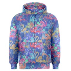 Flamingo pattern Men s Zipper Hoodie