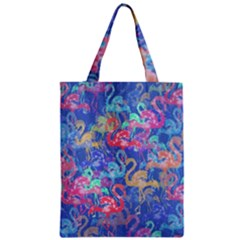 Flamingo pattern Zipper Classic Tote Bag