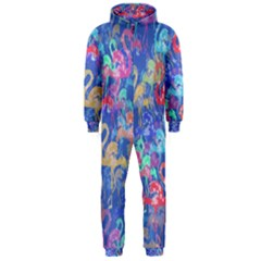 Flamingo pattern Hooded Jumpsuit (Men)