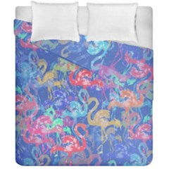 Flamingo pattern Duvet Cover Double Side (California King Size)