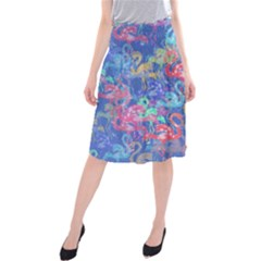 Flamingo pattern Midi Beach Skirt