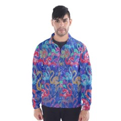 Flamingo pattern Wind Breaker (Men)