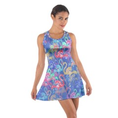 Flamingo pattern Cotton Racerback Dress