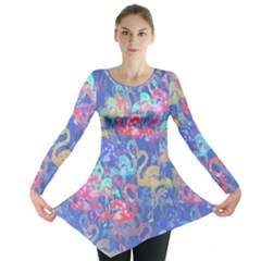 Flamingo pattern Long Sleeve Tunic