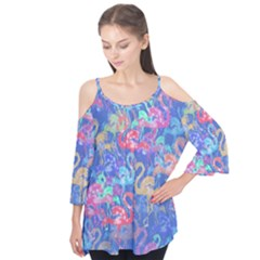 Flamingo pattern Flutter Tees