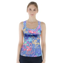 Flamingo pattern Racer Back Sports Top