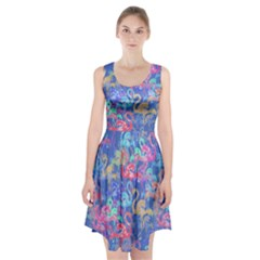 Flamingo pattern Racerback Midi Dress