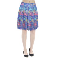 Flamingo pattern Pleated Skirt
