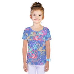 Flamingo pattern Kids  One Piece Tee