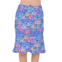 Flamingo pattern Mermaid Skirt
