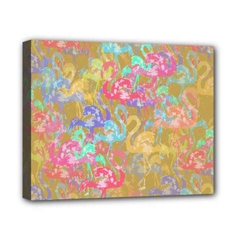 Flamingo pattern Canvas 10  x 8