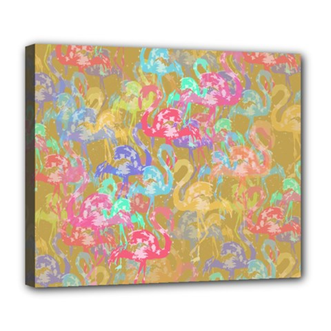 Flamingo pattern Deluxe Canvas 24  x 20