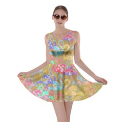 Flamingo pattern Skater Dress