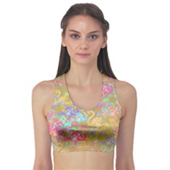 Flamingo pattern Sports Bra