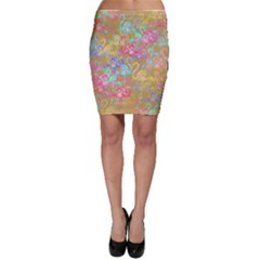 Flamingo pattern Bodycon Skirt