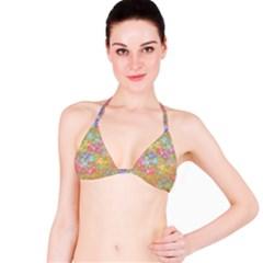 Flamingo pattern Bikini Top