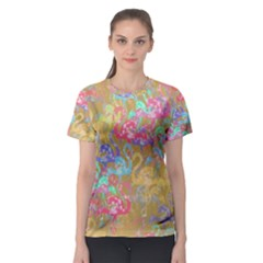 Flamingo pattern Women s Sport Mesh Tee