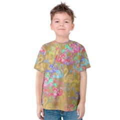Flamingo pattern Kids  Cotton Tee