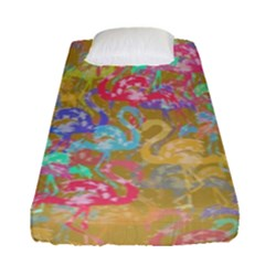 Flamingo pattern Fitted Sheet (Single Size)