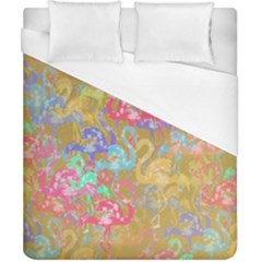 Flamingo pattern Duvet Cover (California King Size)