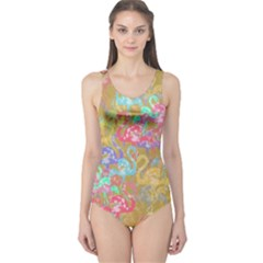 Flamingo pattern One Piece Swimsuit