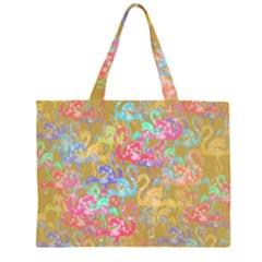 Flamingo pattern Large Tote Bag
