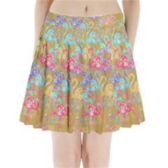 Flamingo pattern Pleated Mini Skirt
