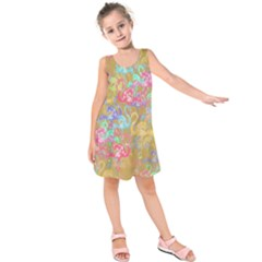 Flamingo pattern Kids  Sleeveless Dress