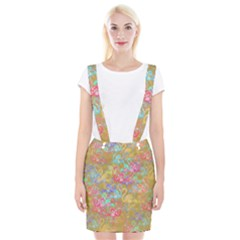 Flamingo pattern Braces Suspender Skirt