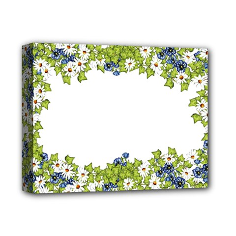 Birthday Card Flowers Daisies Ivy Deluxe Canvas 14  X 11