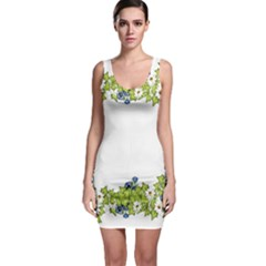 Birthday Card Flowers Daisies Ivy Sleeveless Bodycon Dress