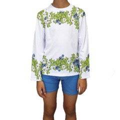 Birthday Card Flowers Daisies Ivy Kids  Long Sleeve Swimwear