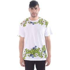 Birthday Card Flowers Daisies Ivy Men s Sport Mesh Tee