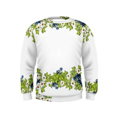 Birthday Card Flowers Daisies Ivy Kids  Sweatshirt