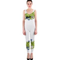 Birthday Card Flowers Daisies Ivy Onepiece Catsuit