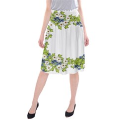 Birthday Card Flowers Daisies Ivy Midi Beach Skirt