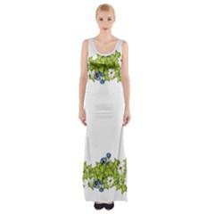 Birthday Card Flowers Daisies Ivy Maxi Thigh Split Dress