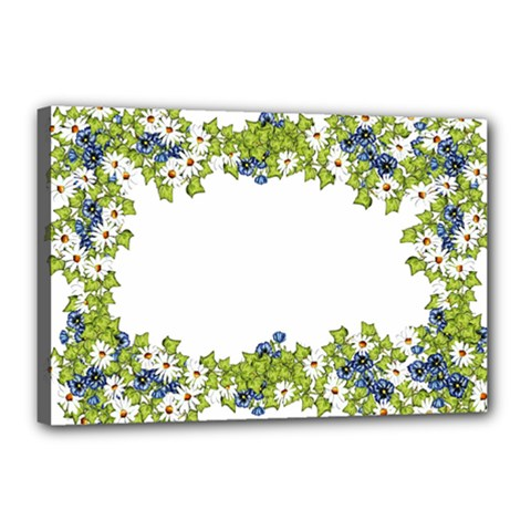 Birthday Card Flowers Daisies Ivy Canvas 18  x 12