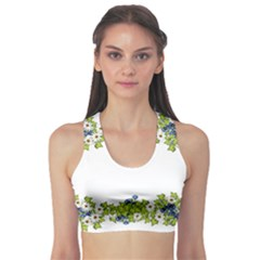 Birthday Card Flowers Daisies Ivy Sports Bra